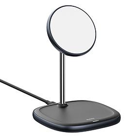 Đế giữ điện thoại tích hợp sạc nhanh không dây Baseus Swan Magnetic Desktop Bracket Wireless Charger cho iPhone 12 series - Hàng nhập khẩu