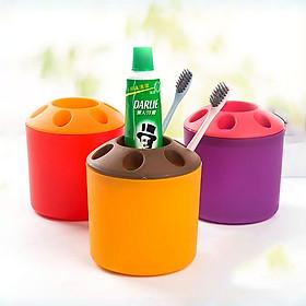 Bộ 3 chiếc cốc nhựa đa năng cắm bút,kéo, đựng bàn chải đánh răng, phụ kiện nhiều màu