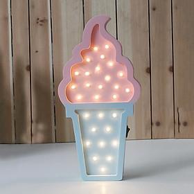 Magic Wood Ice Cream Lamp Creative LED Night Light Cute Table/Desk Lamp Kids Bedroom Decor