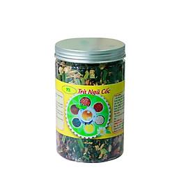 Trà ngũ cốc  - ( Gạo lứt huyết rồng, đậu đen xanh lòng, đậu đỏ, hoa nhài ) - 500gr