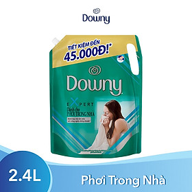 Nước Xả Vải Downy Expert Dành Cho Phơi Trong Nhà 2.4L (dạng túi)