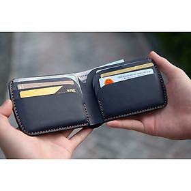 Ví cầm tay mini J4M, ví sen cách điệu da bò thật, thời trang Unisex cho nam và nữ đựng thẻ và tiền, VSX21