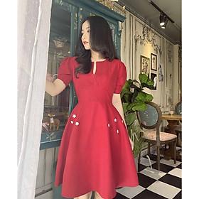 Đầm đỏ dự tiệc Cao Cấp Sang Trọng mặc Tôn Da
