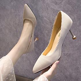 Giày cao gót mũi nhọn phong cách Hàn Quốc thời trang cho nữ
