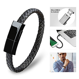 Da thật nóng Mini Micro USB Bracelet Charger Data Charging Cable Sync Dây cho iPhone 6 6s 7Plus Cáp điện thoại Android Type-C