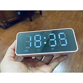 Loa Bluetooth Kiêm Đồng Hồ  Mặt Gương Hiển Thị Đèn Led - Đài FM - Đồng Hồ Báo Thức