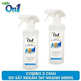 COMBO 2 Chai Dung Dịch Sát Khuẩn Tay Nhanh On1 Protect Hương BamBoo Charcoal 500ml C0202 (Mẫu mới 2021)