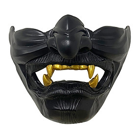 Ghost Of Tsushima Evil Spirit Mask Halloween Scary Mask Eco-Friendly Resin A Half Face Mask