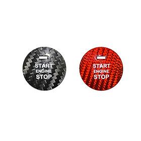 For Mazda CX-8 CX-5 CX-4 CX-3 MX-5 Axela Car Decorative Sticker Carbon Fiber One-click Start Button Sticker
