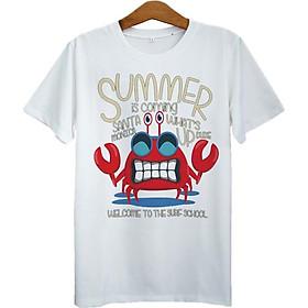 Áo Thun Unisex In Cua Summer Is Coming ASAA095 - Trắng