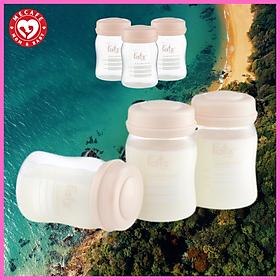 Bộ 3 bình trữ sữa mẹ cổ rộng Fatzbaby 150ml + tặng 5 zipper 10x15cm