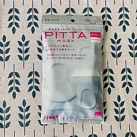 Khẩu Trang Pitta Nhật Bản Small White - Gói 3 cái (mẫu mới 2020)