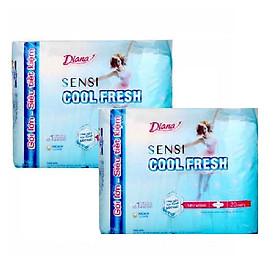 Combo 2 gói băng vệ sinh Diana Sensi Cool Fresh ( 20 miếng / gói )