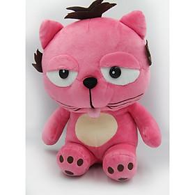 Gấu Bông/ Thú Nhồi Bông Mèo Lười Dinga 28 Cm (Tặng kèm móc khóa da bò thật màu ngẫu nhiên) BA00156