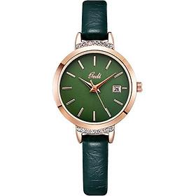 Đồng hồ thời trang nữ GEDI YH13009 mặt nhỏ dây da có lịch ngày - Hàng chính hãng