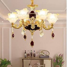 Đèn chùm - đèn trần trang trí nội thất IRELIA phong cách Châu Âu hiện đại loại 6 tay - Tặng kèm bóng LED cao cấp