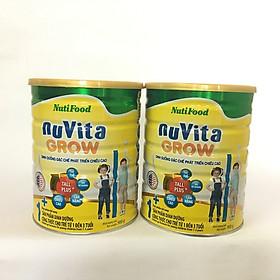 Combo 2 hộp Nuvita Grow 1+ Dinh dưỡng đặc chế phát triển chiều cao cho trẻ từ 1-3 tuổi (900g/ hộp)-0