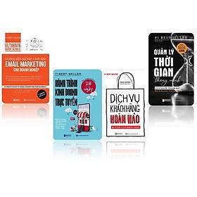 bộ sách kinh doanh bán hàng ( Dịch vụ khách hàng hoàn hảo - 28 ngày hành trình kinh doanh trực tuyến - Quản lý thời gian thông minh của người thành đạt  -  Hướng dẫn bài bản cách làm EMAIL MARKETING cho doanh nghiệp )t