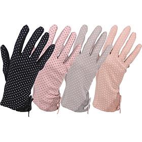 Combo 2 bao tay, găng tay nữ chống nắng loại dày ngón dài màu ngẫu nhiên