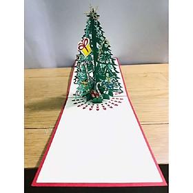 Thiệp 3d - Cây thông Noel Cỡ Trung - NOT18