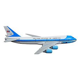 Mô Hình Máy Bay Trưng Bày Boeing 747 Air Force One Everfly (Trắng Xanh Nhạt)