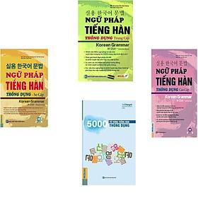 Thư viện tiếng hàn - 4 cuốn: Sách Ngữ pháp tiếng hàn thông dụng (sơ cấp + trung cấp + cao cấp) + 5000 Từ Vựng Tiếng Hàn Thông Dụng ( tặng Những từ dễ nhầm lẫn trong tiếng Hàn 95k)