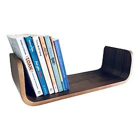 Kệ Sách Treo Tường Uốn Cong Book Shelf BS0205 - Walnut