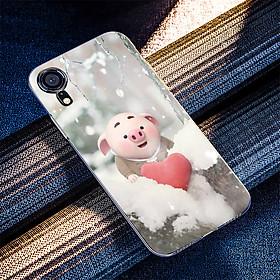 Ốp điện thoại dành cho máy iPhone XR - Trái tim của lợn con MS FUNN0026