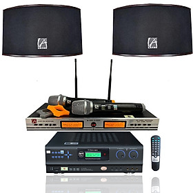 Dàn âm thanh karaoke gia đình BfaudioPro 3 món gồm vang số Bfaudio N506, loa Latop R212C, micro Latop M1000 - Hàng chính hãng