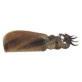Lược Sừng Bò Châu Phi Cao Cấp L48 Con Rồng (Dài 18 x 5,2cm)