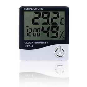 Đồng hồ đo nhiệt độ, độ ẩm model HTC-1 - Tặng kèm 03 móc dán tường 3D ngộ nghĩnh cỡ lớn siêu chắc chắn