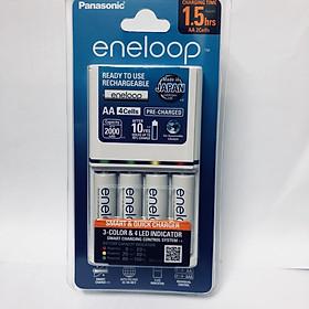 Bộ sạc nhanh pin AA,AAA Eneloop Panasonic K-KJ55MCC40V kèm 4 pin sạc-Hàng chính hãng