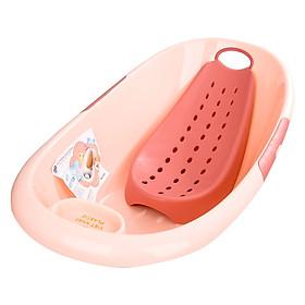 Chậu tắm cho bé kèm giá đỡ ( Tặng 01 mũ tắm cho bé )