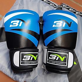 Găng boxing BN cao cấp size 10oz  xanh đỏ - tặng 1 cặp băng quấn 4m