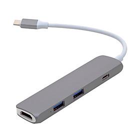 Cổng Chuyển HYPERDRIVE USB TYPE-C HUB WITH 4K HDMI SUPPORT FOR 2016 MACBOOK PRO & 12″ MACBOOK, SURFACE GRAY - GN22B - HÀNG CHÍNH HÃNG