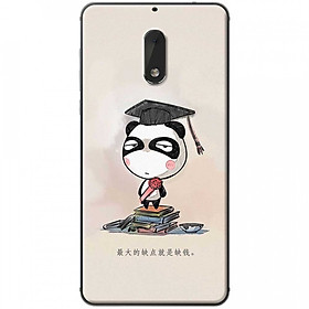 Hình đại diện sản phẩm Ốp lưng dành cho Nokia 6 mẫu Panda mọt sách