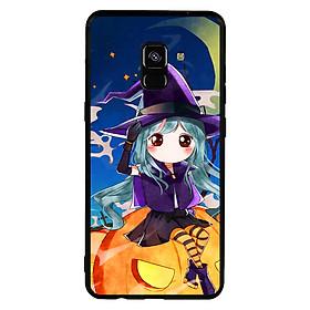 Hình đại diện sản phẩm Ốp lưng Halloween viền TPU cho điện thoại Samsung Galaxy A8 Plus 2018 - Mẫu 04
