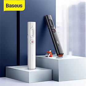 Bút Laser trình chiếu Baseus Orange Dot Wireless Presenter Standard Version cho Laptop/ Macbook (100m. 2.4Ghz USB/Type C Receiver, Wireless Remote Control, Red Laser Pointer/ Presenter) - Hàng chính hãng