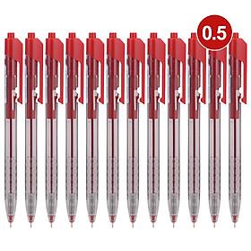 Bút bi dầu Deli - 0.5mm/0.7mm đầu bấm - mực Xanh/Đen/Đỏ - 12 cây/hộp - EQ01230/EQ01330