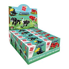Hộp 10 bộ đồ chơi lắp ráp Biệt đội quái thú rừng xanh Qman 2103