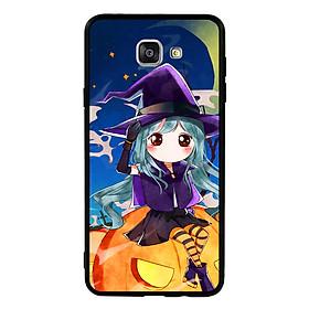 Hình đại diện sản phẩm Ốp lưng Halloween viền TPU cho điện thoại Samsung Galaxy A9 Pro - Mẫu 04