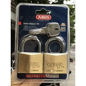 Bộ hai ổ khóa dùng chung 1 chìa chính hãng Abus 75/ 50mm - CHLB Đức