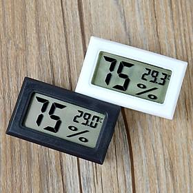 Nhiệt ẩm kế điện tử mini V2 ( Màu ngẫu nhiên Đen - Trắng )