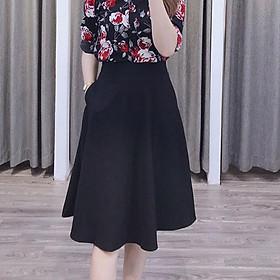 Chân váy xòe nữ công sở túi cv44 M1