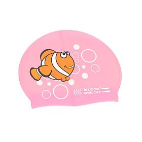Nón bơi silicon trẻ em cao cấp chống nước , chóng UV , mềm mại khi đeo, mũ không bị tuột, giảm lực ma sát với nước khi bơi, ngăn ngừa lại việc tóc vướng vào mắt và mặt - Hình cá Nemo ngộ nghĩnh