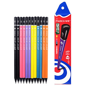 Marco 9008-12CB-HB Writing pencil black wood colorful triangular pencil (HB) 12 boxed