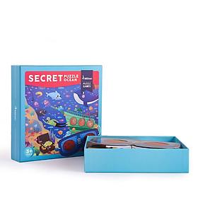 Bộ xếp hình Mideer secret Puzzle Ocean khám phá biển xanh