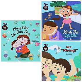 """Combo 3 Cuốn Nuôi Dạy Con - Giáo Dục Giới Tính Cho Con Yêu: Không Phải Lỗi Của Con + Mình Đã Lớn Rồi +  Nói """"Không"""" / Sách Tâm Lí Giới Tính ( Tặng Kèm Bookmark Happy Life)"""