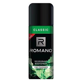 Xịt khử mùi toàn thân cho Nam Romano Classic 150ml -Mẫu mới