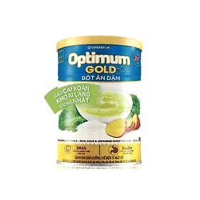 Bột ăn dặm Optimum Gold Gạo cải xoăn khoai lang giống Nhật – hộp Thiết 350g